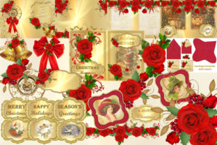 Christmas Clipart and Backgrounds Bundle Graphic By The Paper Princess