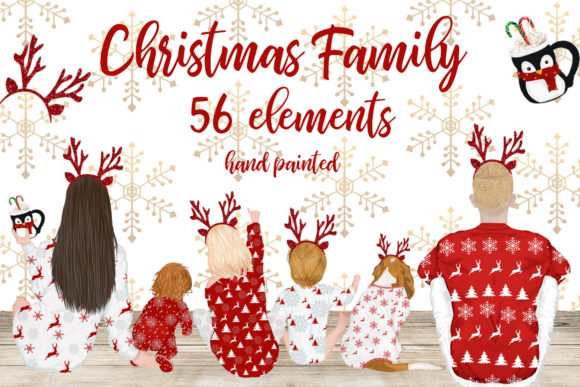 Christmas Clipart Graphic Illustrations By LeCoqDesign