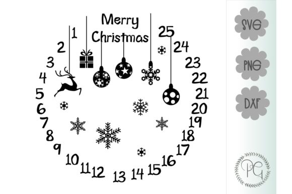 Download Free Christmas Countdown Graphic By Prospering Gifts Creative Fabrica for Cricut Explore, Silhouette and other cutting machines.