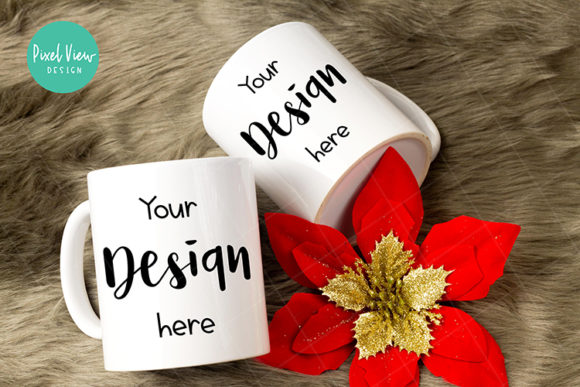 Download Free Christmas Couple Coffee Mug Mock Up Graphic By Pixel View Design for Cricut Explore, Silhouette and other cutting machines.