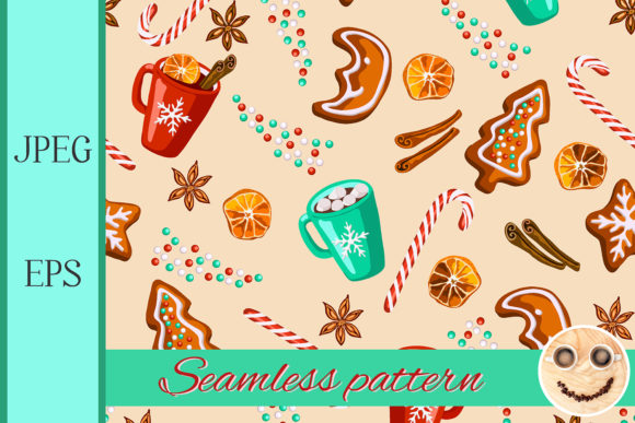 Christmas Gingerbread, Mulled Wine Graphic By TasiPas