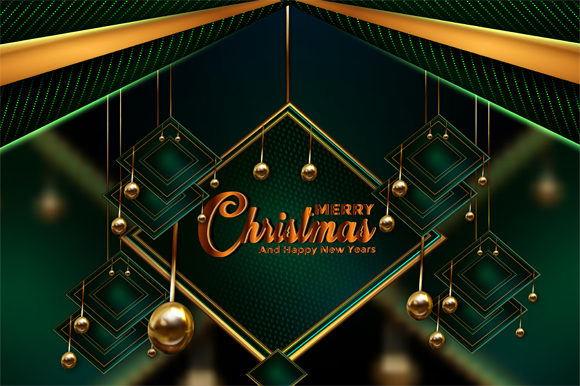 Print on Demand: Christmas Green Dark Background Graphic Backgrounds By imammuslim835
