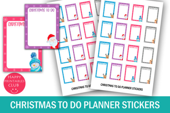photograph relating to Planner Stickers Printable identified as Xmas Trip towards Do Planner Stickers