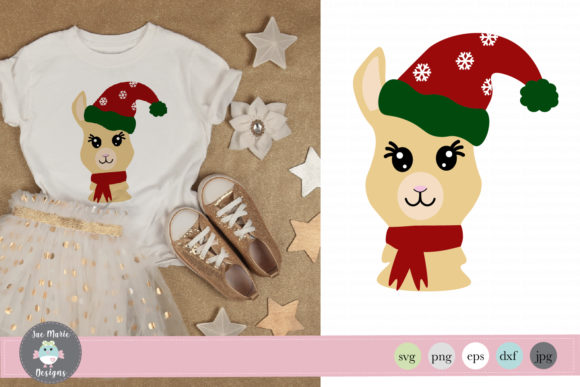 Christmas Llama Graphic Crafts By thejaemarie