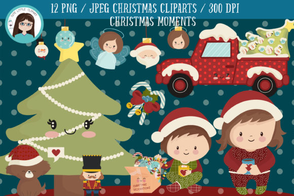 Christmas Moments Cliparts Graphic Illustrations By CuteLittleClipart