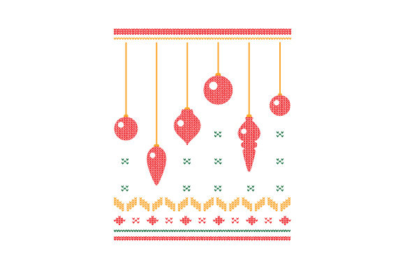 Christmas Ornaments. Ugly Sweater Style Christmas Craft Cut File By Creative Fabrica Crafts