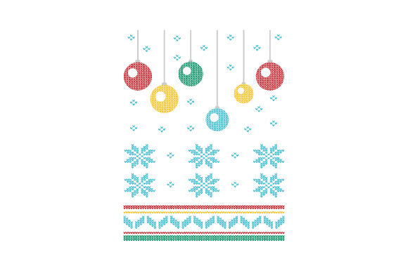 Download Free Christmas Ornaments Ugly Sweater Style Svg Cut File By Creative for Cricut Explore, Silhouette and other cutting machines.