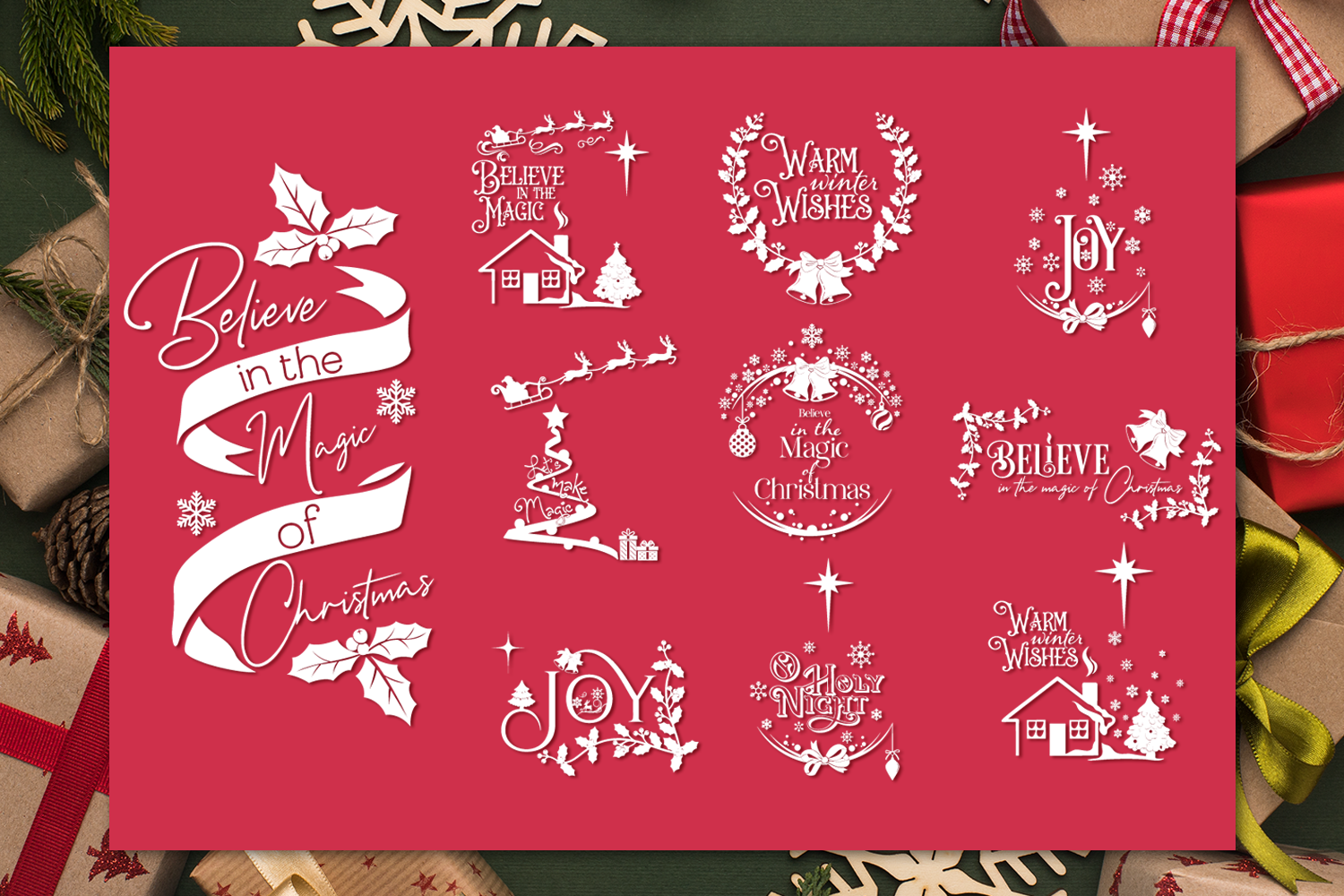 Download Free Christmas Quotes Bundle Graphic By Anastasia Feya Creative Fabrica for Cricut Explore, Silhouette and other cutting machines.