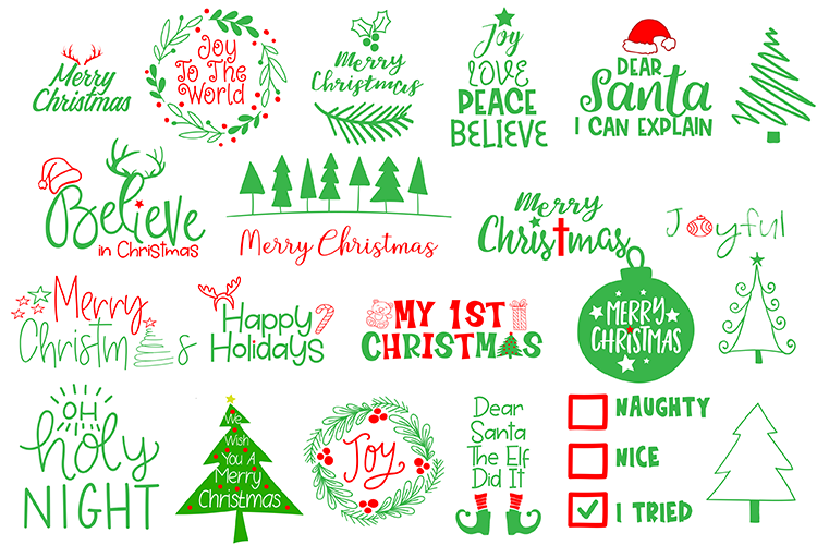 Download Free Christmas Graphic By Carrtoonz Creative Fabrica for Cricut Explore, Silhouette and other cutting machines.
