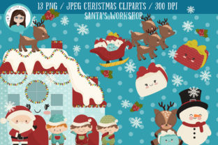 Christmas Santa S Workshop Cliparts Graphic By Cutelittleclipart