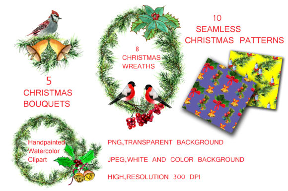 Download Free Christmas Set Graphic By Kakva Creative Fabrica for Cricut Explore, Silhouette and other cutting machines.