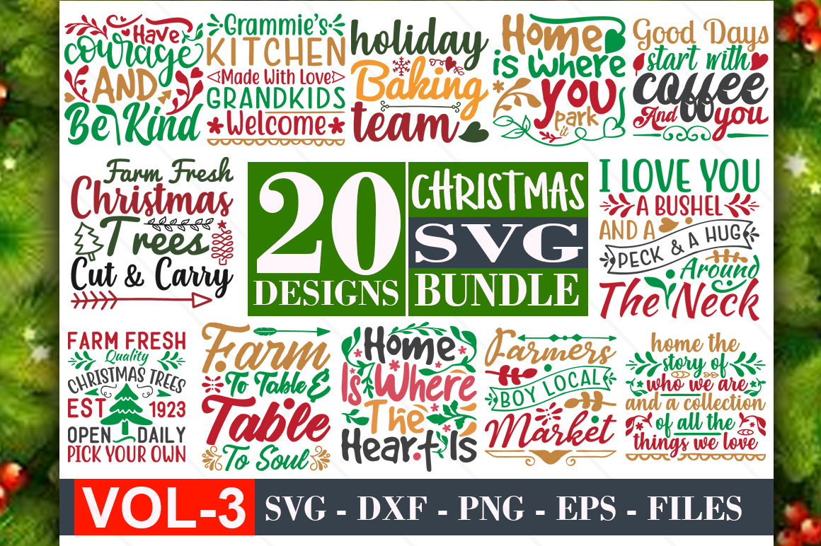 Download Free Christmas Bundle Vol 03 Graphic By Graphicsqueen Creative Fabrica for Cricut Explore, Silhouette and other cutting machines.
