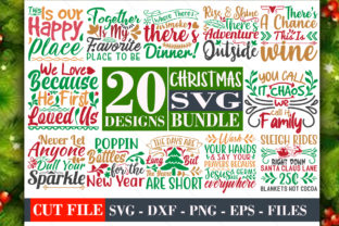 Download Free Christmas Bundle Vol 05 Graphic By Graphicsqueen Creative Fabrica for Cricut Explore, Silhouette and other cutting machines.