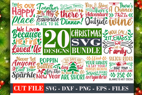 Download Free Christmas Bundle Vol 05 Graphic By Graphicsqueen Creative Fabrica SVG Cut Files
