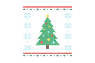 Christmas Tree. Ugly Sweater Style Christmas Craft Cut File By Creative Fabrica Crafts