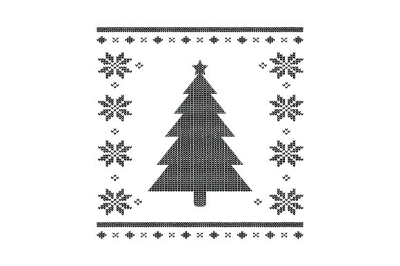 Christmas Tree. Ugly Sweater Style Christmas Craft Cut File By Creative Fabrica Crafts - Image 2