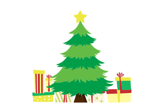Download Free Christmas Tree With Presents Svg Cut File By Creative Fabrica for Cricut Explore, Silhouette and other cutting machines.