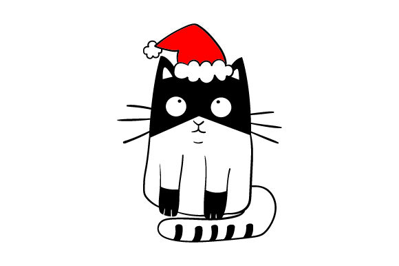 Christmas Cat Christmas Craft Cut File By Creative Fabrica Crafts - Image 1