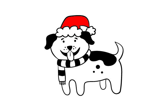 Download Free Christmas Dog Svg Cut File By Creative Fabrica Crafts Creative for Cricut Explore, Silhouette and other cutting machines.
