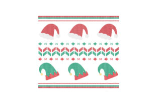 Christmas Hats. Ugly Sweater Style Christmas Craft Cut File By Creative Fabrica Crafts