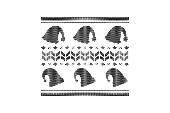 Download Free Christmas Hats Ugly Sweater Style Svg Cut File By Creative for Cricut Explore, Silhouette and other cutting machines.