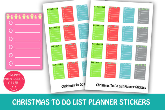 Print on Demand: Christmas to Do Planner Stickers-Holiday Graphic Crafts By Happy Printables Club