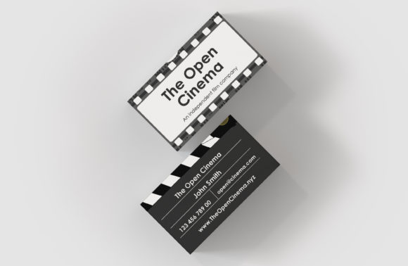 Download Free Cinema Video Business Card Template Graphic By Denestudios for Cricut Explore, Silhouette and other cutting machines.