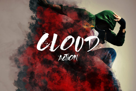 Print on Demand: Cloud Photoshop Action Graphic Actions & Presets By freezerondigital