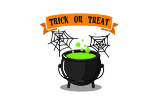 Cob Webs & Cauldron - Trick or Treat Craft Design By Creative Fabrica Crafts