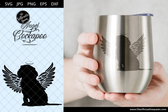 Download Free Cockapoo 10 With Wings Graphic By Thesilhouettequeenshop SVG Cut Files