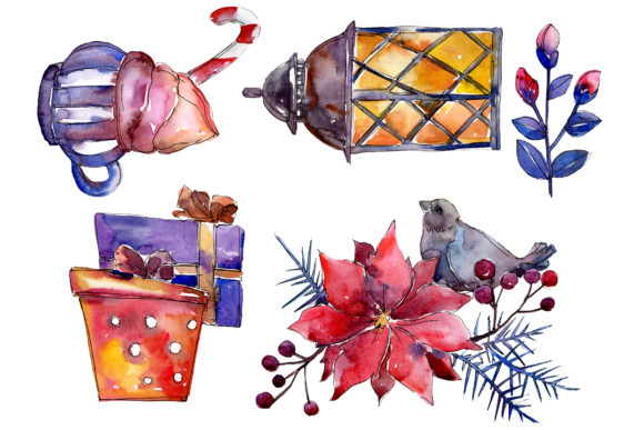 Print on Demand: Collection Christmas Miracle Watercolor Graphic Illustrations By MyStocks