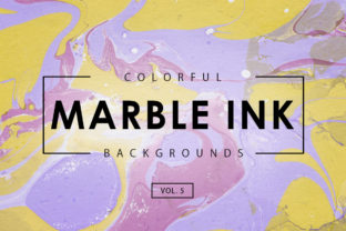 Colorful Marble Ink Backgrounds 5 Graphic By ArtistMef