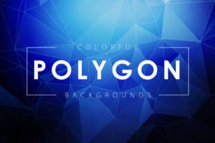Colorful Polygon Backgrounds Graphic By ArtistMef