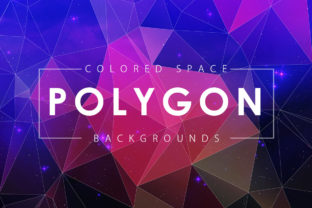 Colorful Space Polygon Backgrounds Graphic By ArtistMef