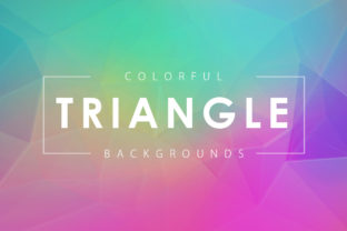 Colorful Triangle Backgrounds Graphic By ArtistMef