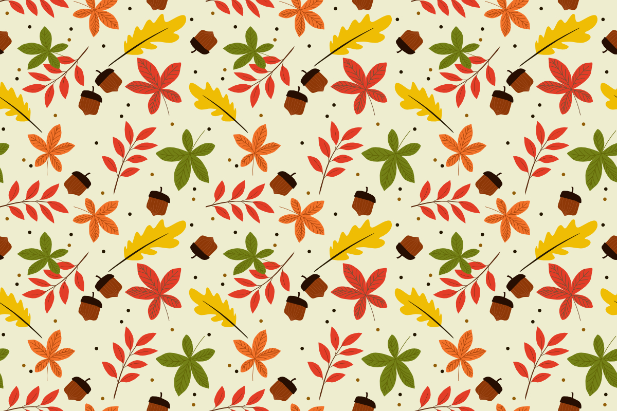 Download Free Colorful Autumn Leaves Seamless Pattern Grafik Von Thanaporn for Cricut Explore, Silhouette and other cutting machines.