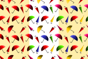 Download Free Colorful Umbrella Seamless 2 Patterns Graphic By Thanaporn for Cricut Explore, Silhouette and other cutting machines.