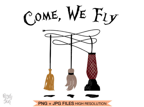 Print on Demand: Come We Fly, Witches Broom Graphic Crafts By roxysvg26