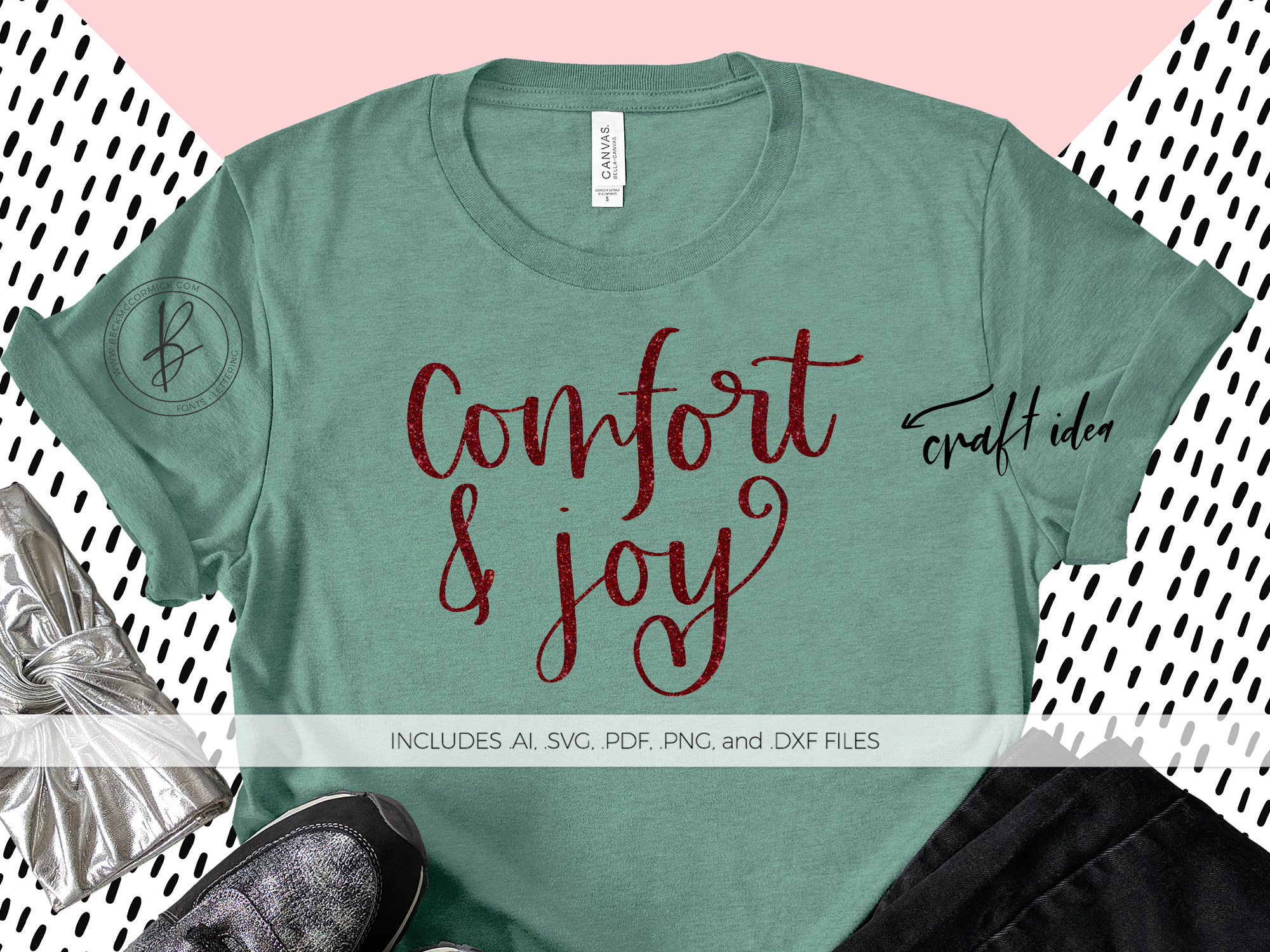 Download Free Comfort And Joy Graphic By Beckmccormick Creative Fabrica for Cricut Explore, Silhouette and other cutting machines.