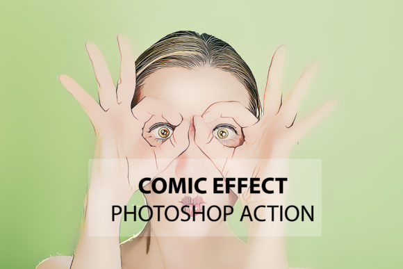 Download Free Comic Effect Photoshop Action Grafico Por Itraitart Creative for Cricut Explore, Silhouette and other cutting machines.