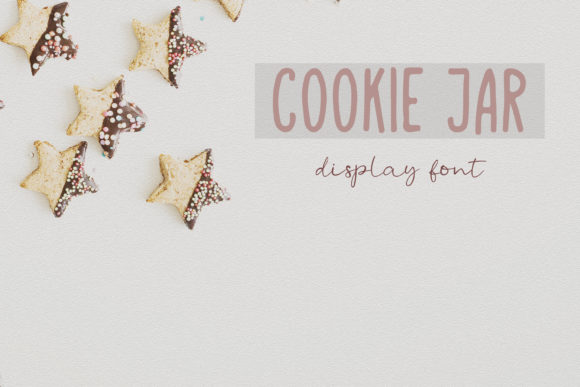 Print on Demand: Cookie Jar Font Display Font By Primafox Design