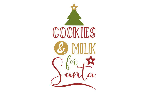 Download Free Cookies Milk For Santa Svg Cut File By Creative Fabrica Crafts for Cricut Explore, Silhouette and other cutting machines.