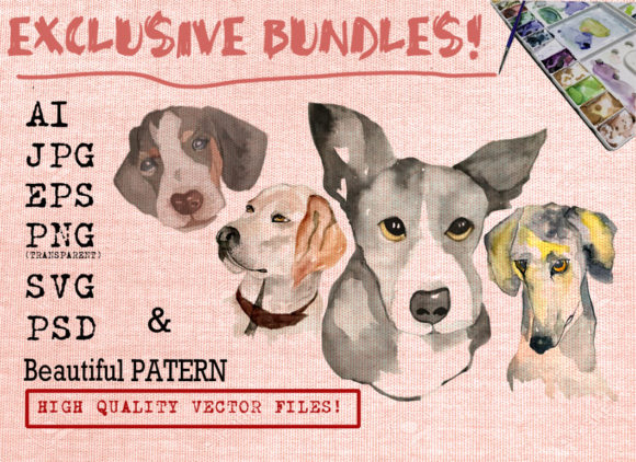 Cool Dog Bundles Graphic Illustrations By Ambar Art