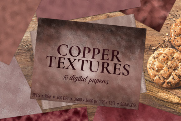 Download Free Copper Foil Textures 10 Digital Papers Graphic By Catjello for Cricut Explore, Silhouette and other cutting machines.