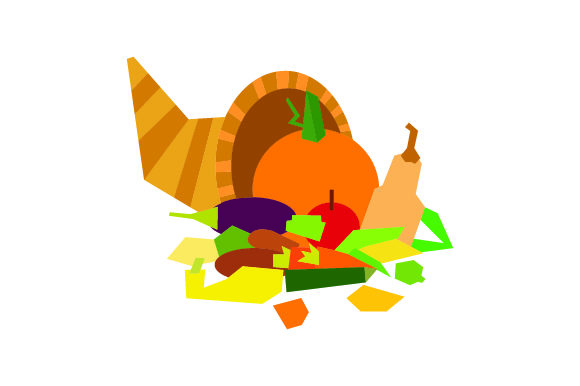 Cornucopia (abstract Art Style) Thanksgiving Craft Cut File By Creative Fabrica Crafts