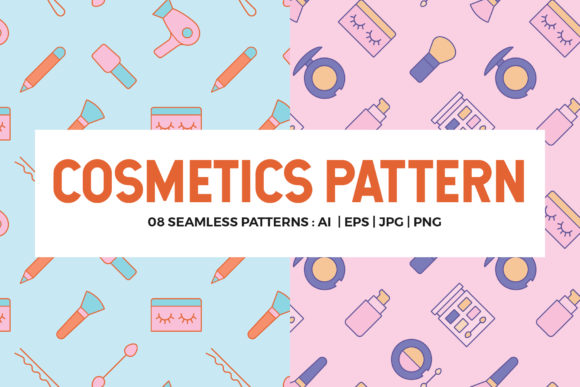 Cosmetics Seamless Patterns Graphic Patterns By abstractocreate