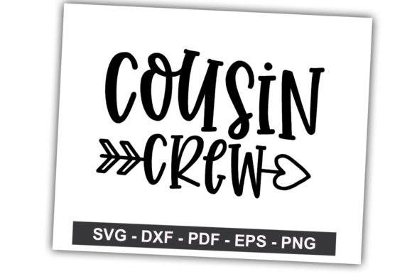 Print on Demand: Cousin Crew Graphic Crafts By svgbundle.net