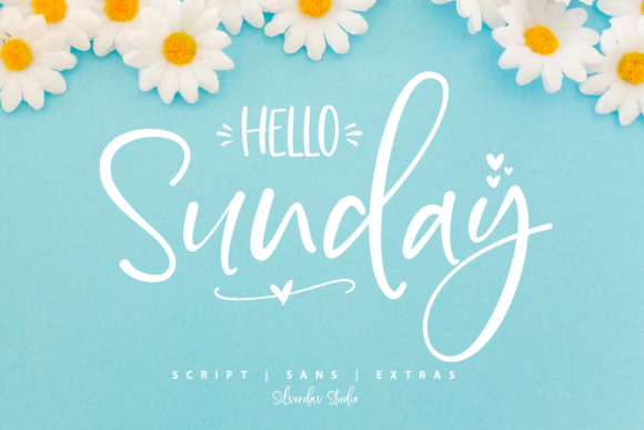 Print on Demand: Hello Sunday Script & Handwritten Font By silverdav