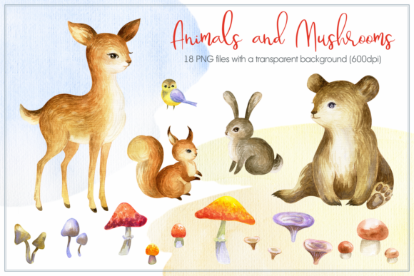 Cozy Fall. Watercolor Animals and Plants Graphic By Olga Belova Image 2