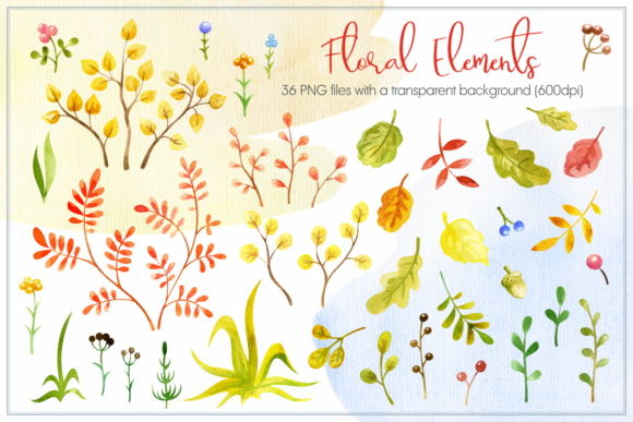 Cozy Fall. Watercolor Animals and Plants Graphic By Olga Belova Image 3